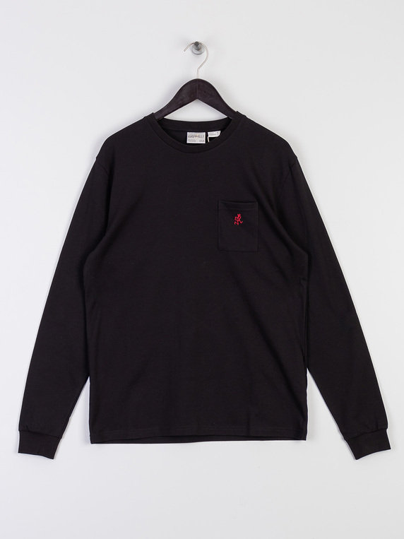 Gramicci Point Long Sleeve T-Shirt Black