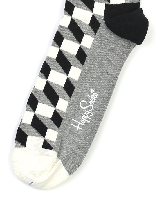 Happy Socks Filled Optic Socks Black