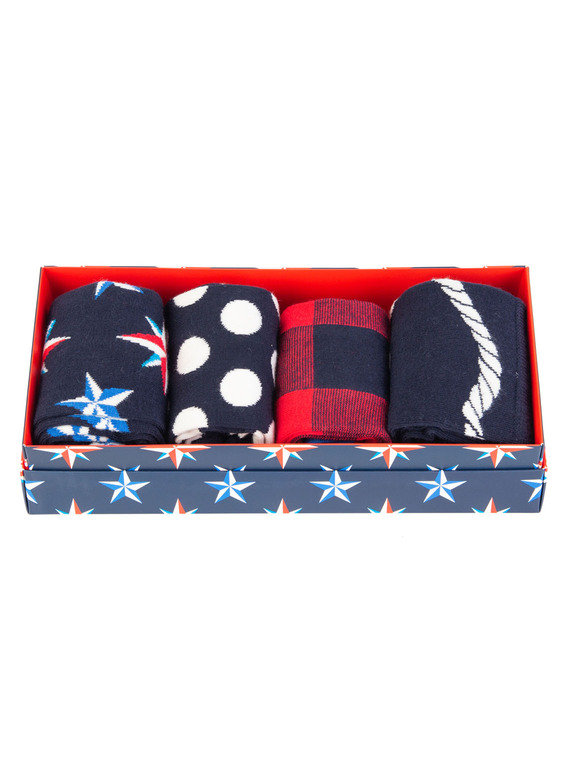 Happy Socks Nautical Gift Box Multi