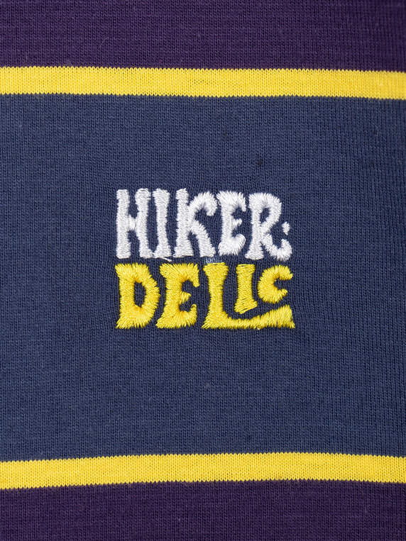 Hikerdelic Wide Stripe T-Shirt Navy