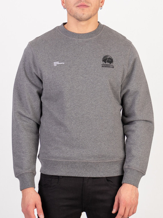 Holubar Logo Sweat Grey Marl