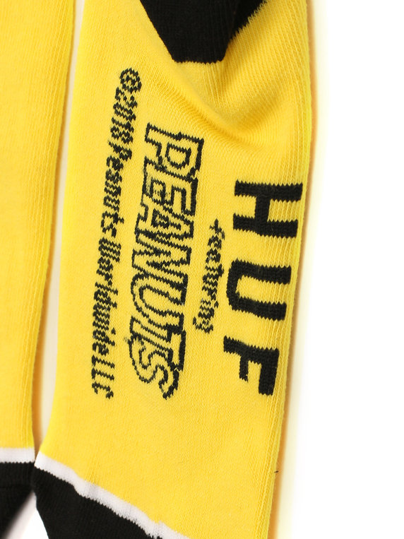 a5b1369cb8fa02 Huf x Peanuts Snoopy Skate Crew Sock Yellow for Sale