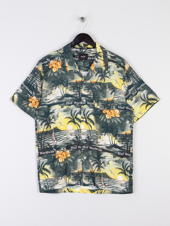 HUF Venice Short Sleeve Woven Shirt Black