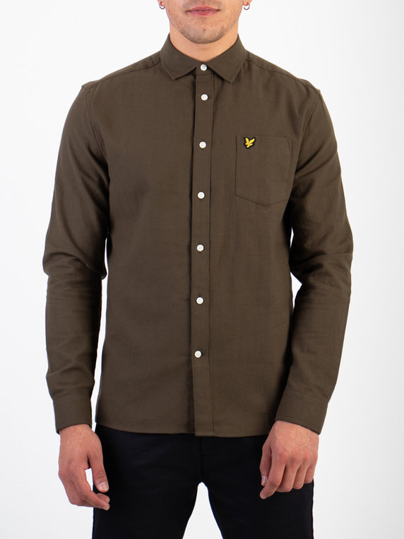 Lyle & Scott Brushed Twill Shirt W123 Green