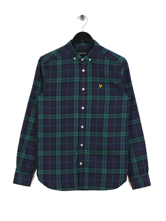 Lyle & Scott Check Flannel Shirt Z456 Green