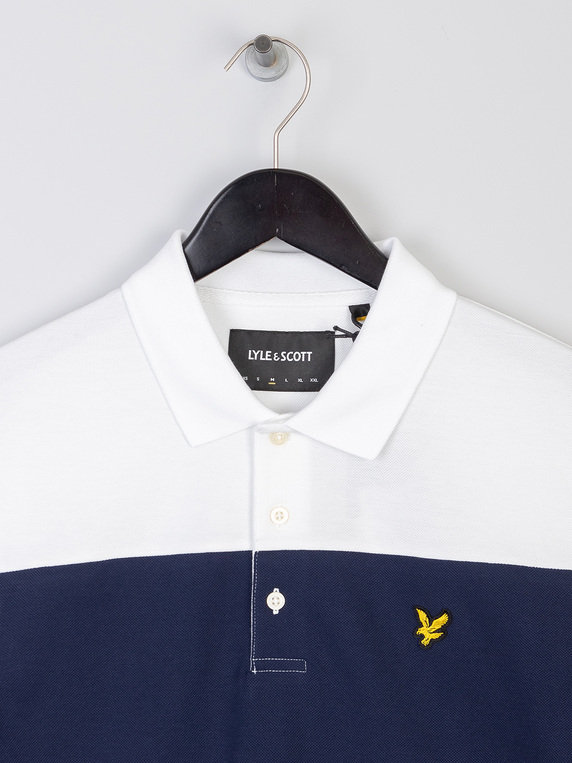 Lyle & Scott Contrast Band Polo Shirt Z99 Navy