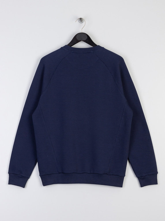 Lyle & Scott Raglan Pique Sweat Z99 Navy