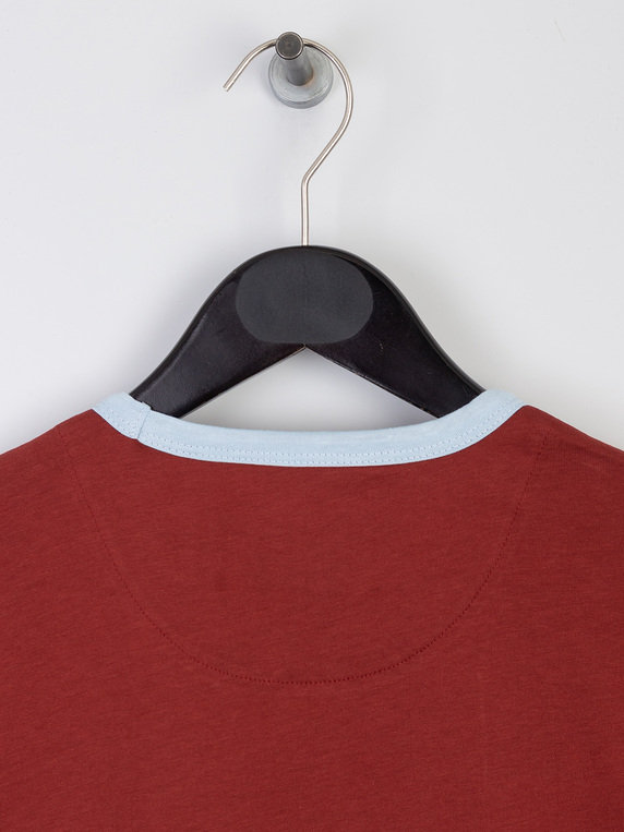 Lyle & Scott Ringer T-Shirt Z754 Red & Blue