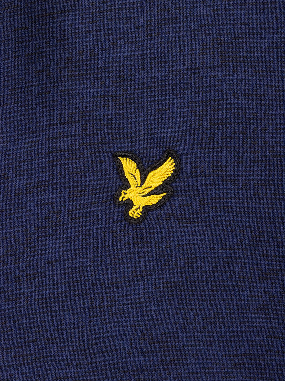 Lyle & Scott Space Dye Zip Through Sweat Navy