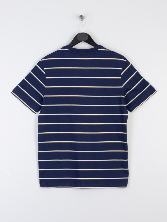 Lyle & Scott Stripe T-Shirt Z99 Navy