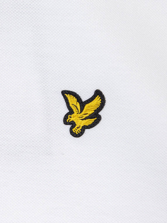 Lyle & Scott Tipped Polo Shirt Z587 White