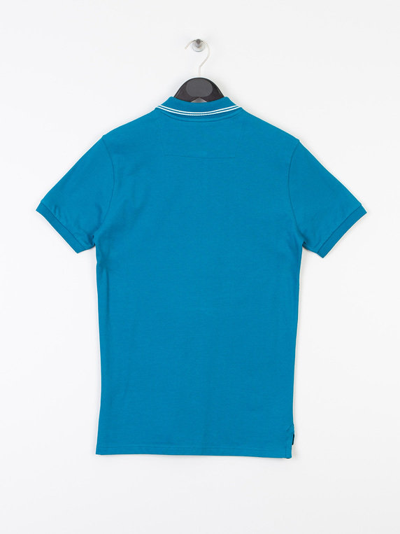 MA.Strum Icon Tipped Pique Polo Blue