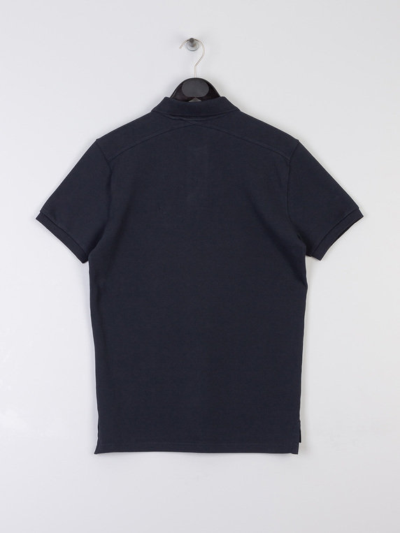 MA.Strum Short Sleeve Pique Polo Shirt M403 Dark Navy