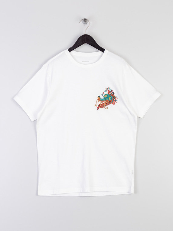 Maharishi 6307 Liberty Dragon T-Shirt White