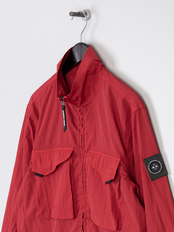 Marshall Artist Garment Dyed Overshirt Red