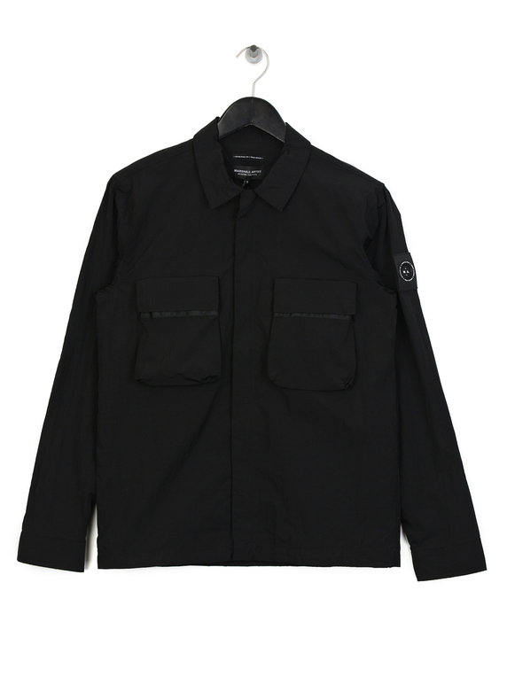 5702ab9c25a Marshall Artist Liquid Bellow Pocket Overshirt Black for Sale
