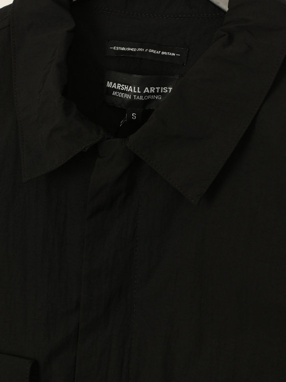 3cb4589c46b Marshall Artist Liquid Bellow Pocket Overshirt Black. code  25408