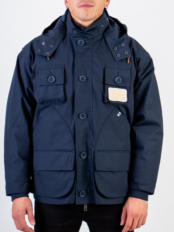 Nigel Cabourn X Element Removable & Reversible Liner Alder Parka Navy Blue