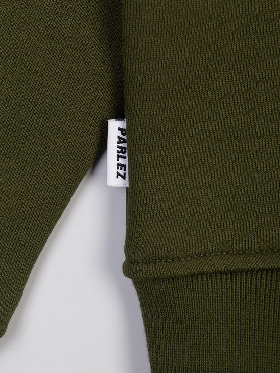 Parlez Jetty 1/4 Zip Sweat Khaki