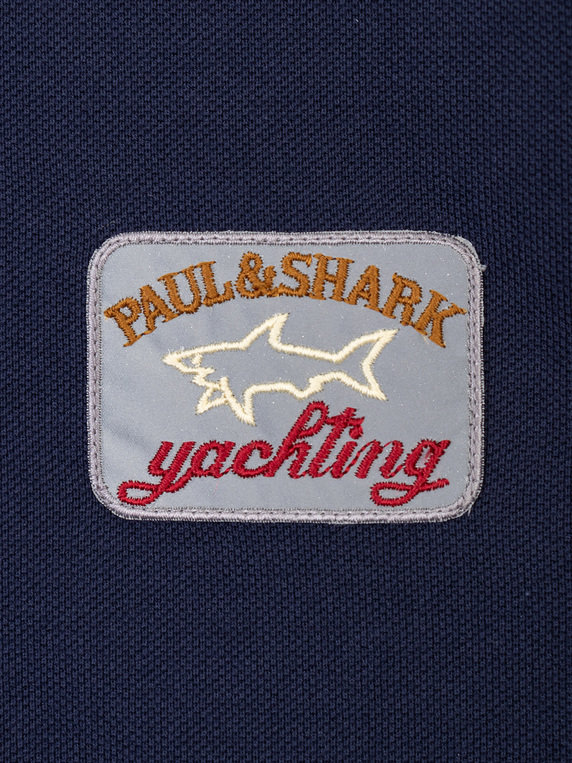 Paul & Shark Large Logo Tipped Polo Navy