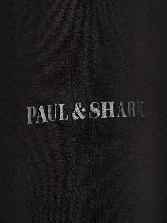 Paul & Shark Middle Logo T-Shirt Black