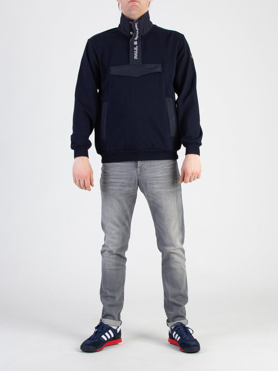 Paul & Shark P201869 Stitched Funnel Neck Navy