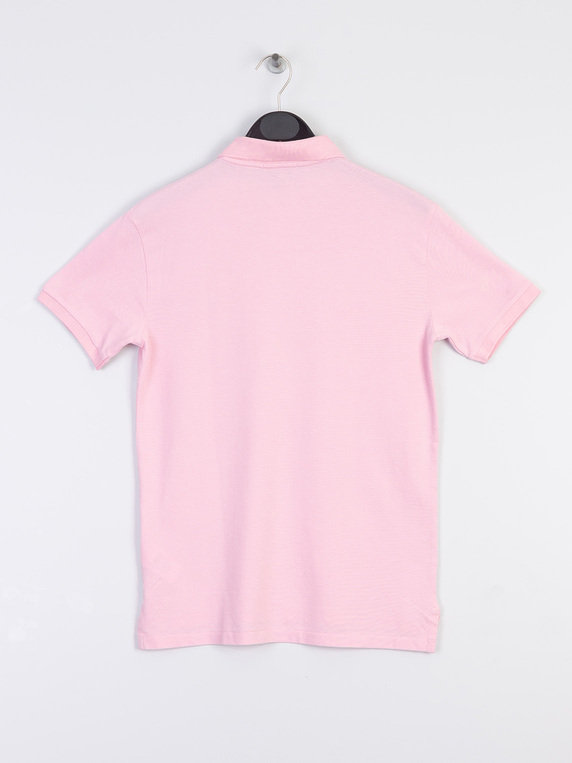 Short Lauren Shirt Basic Ralph Pink Polo Mesh Sleeve l1FJT3uKc