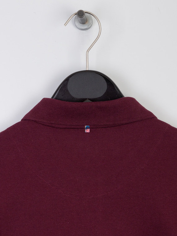 Pretty Green Contrast Panel Polo Shirt Red
