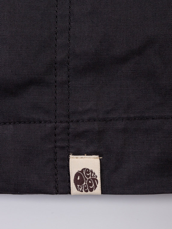Pretty Green Cotton Zip Up Hooded Jacket Black