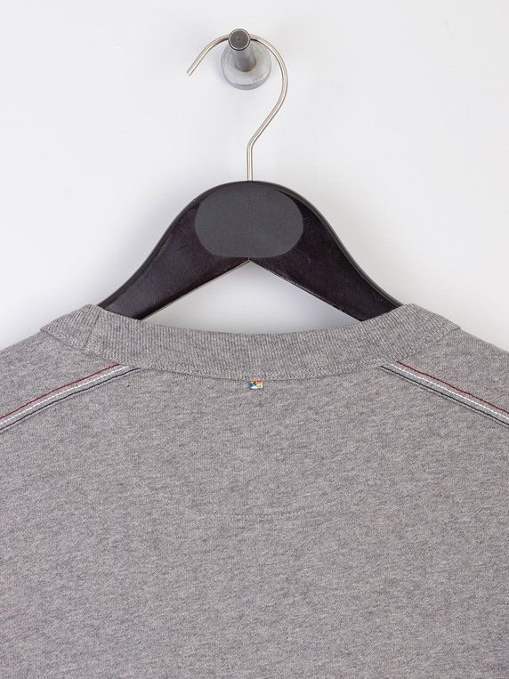 Pretty Green Likeminded Chest Badge Sweat Grey