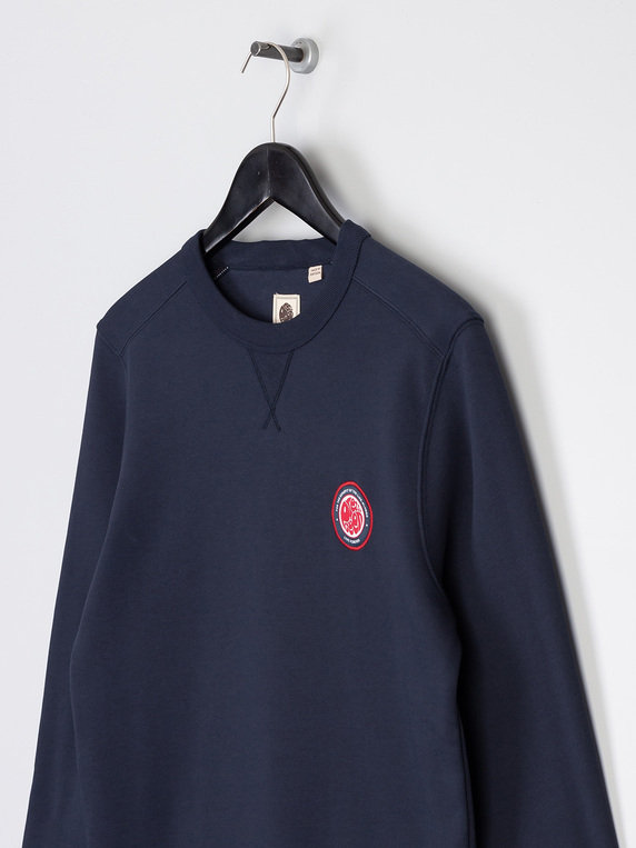 Pretty Green Likeminded Chest Badge Sweat Navy