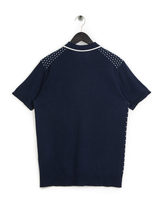 Pretty Green Padstow Knitted Polo Navy