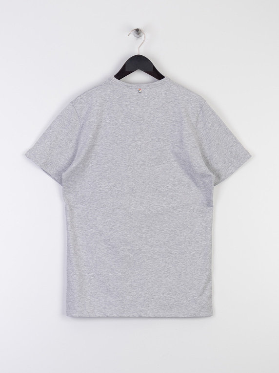 Pretty Green Paisley Chest Embroidery T-Shirt Grey