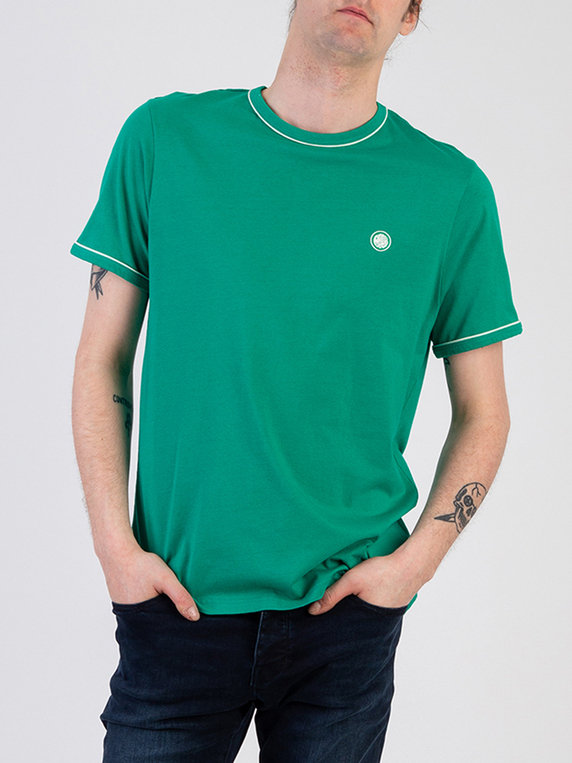 Pretty Green Piping Tipped T-Shirt Green