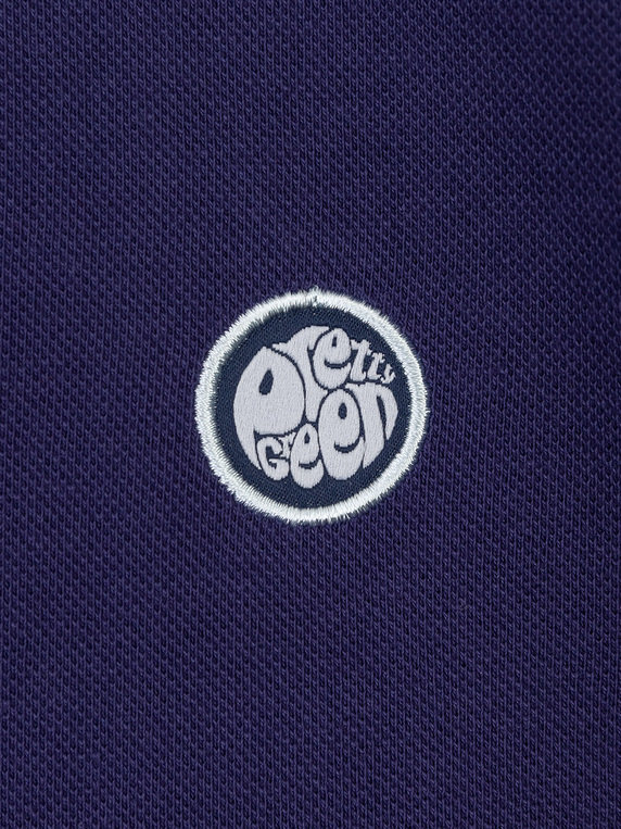 Pretty Green Psychedelic Print Collar Polo Navy