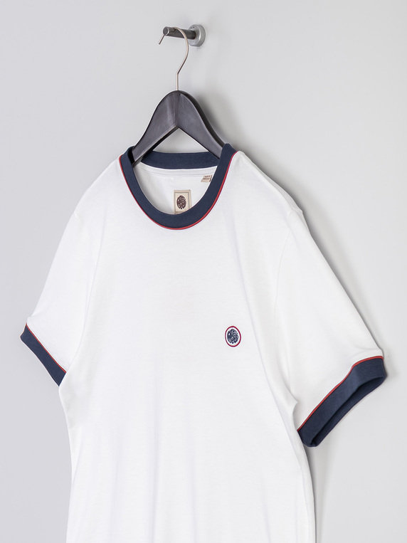 Pretty Green Tilby Tipped T-Shirt White