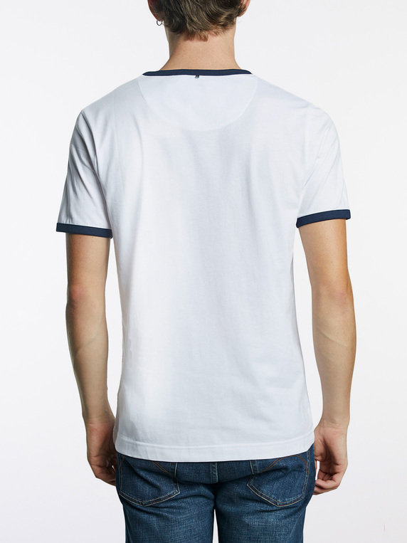 Pretty Green X Umbro Ringer Sleeve T-Shirt White