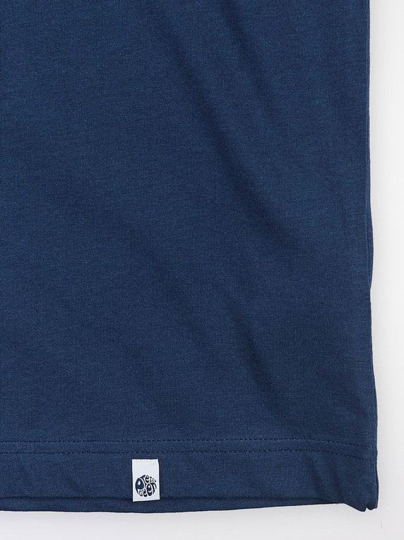 Pretty Green X Umbro Tape Sleeve T-Shirt Navy