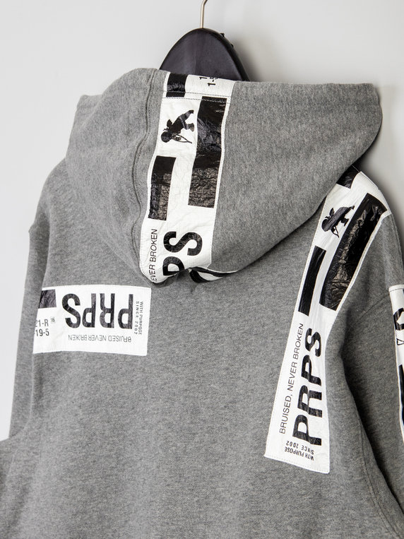 PRPS Bruised Not Broken Hoody Grey