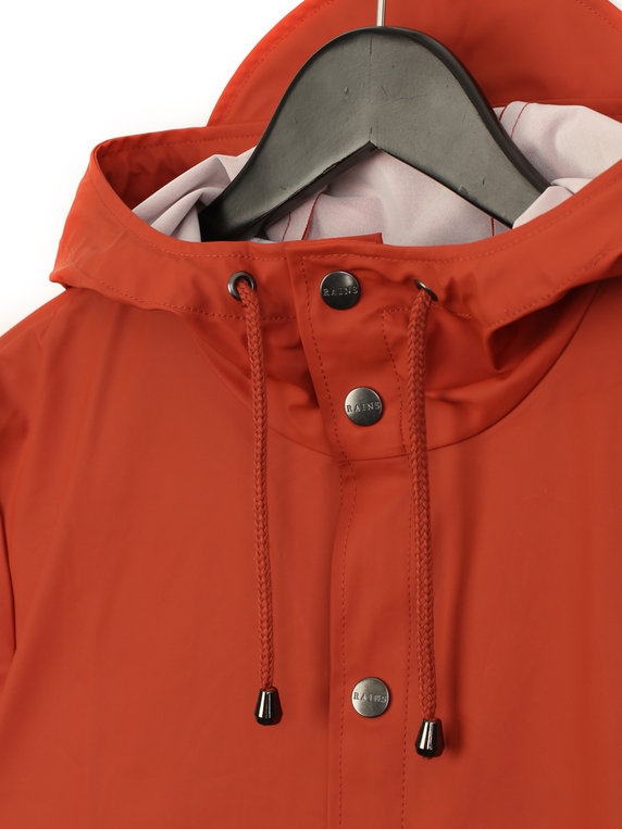 Rains Jacket Rust Orange