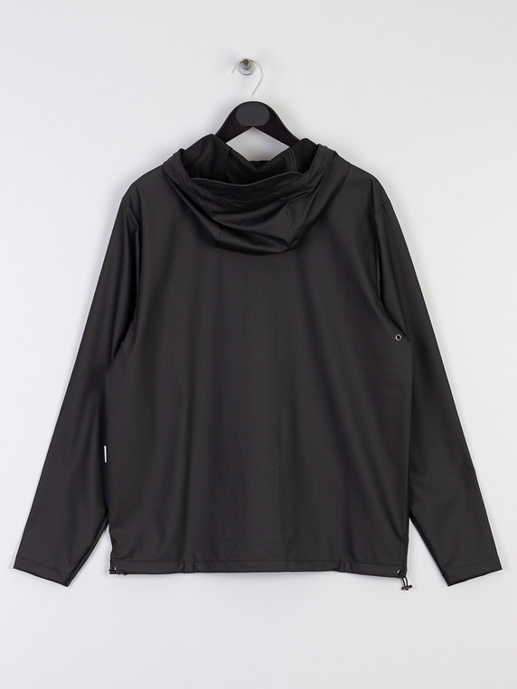 Rains 1826 Short Hooded Coat Black