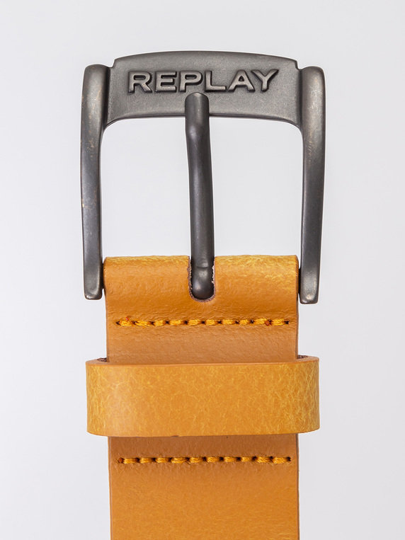 Replay AM2548.A3001 69 Leather Tan Belt
