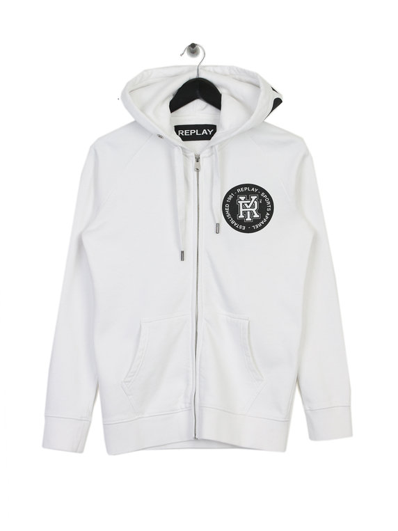 1b234130a5d Replay Logo Hoodie White for Sale