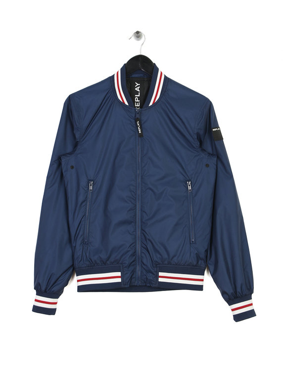 Replay Nylon Baseball Jacket Navy for Sale  a82685a165179