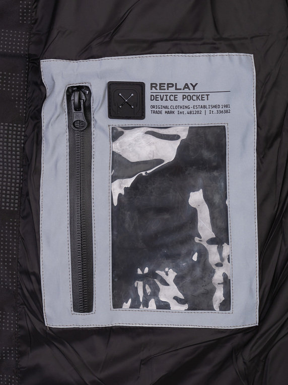 Replay Reflective Jacket Black