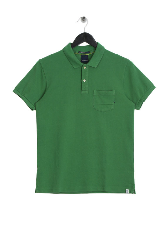 Scotch & Soda AMS Blauw Polo Shirt Alpine Green