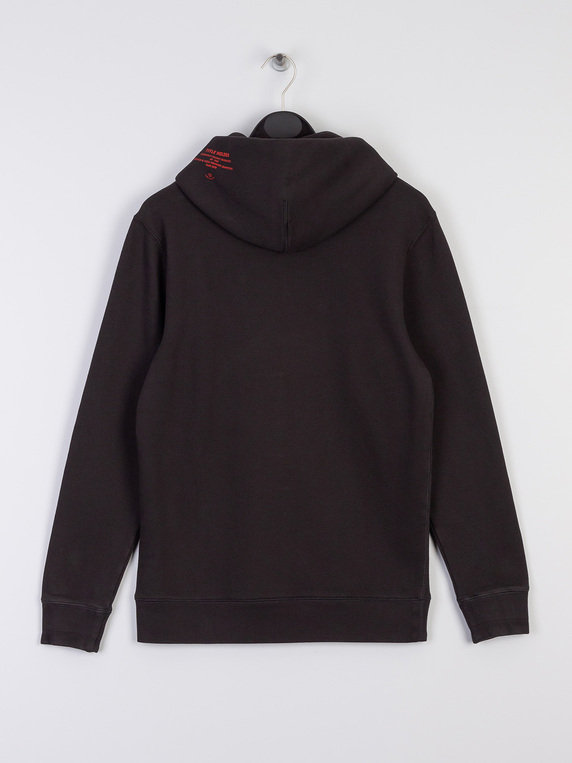 Scotch & Soda Big Chest Applique Hoody Black