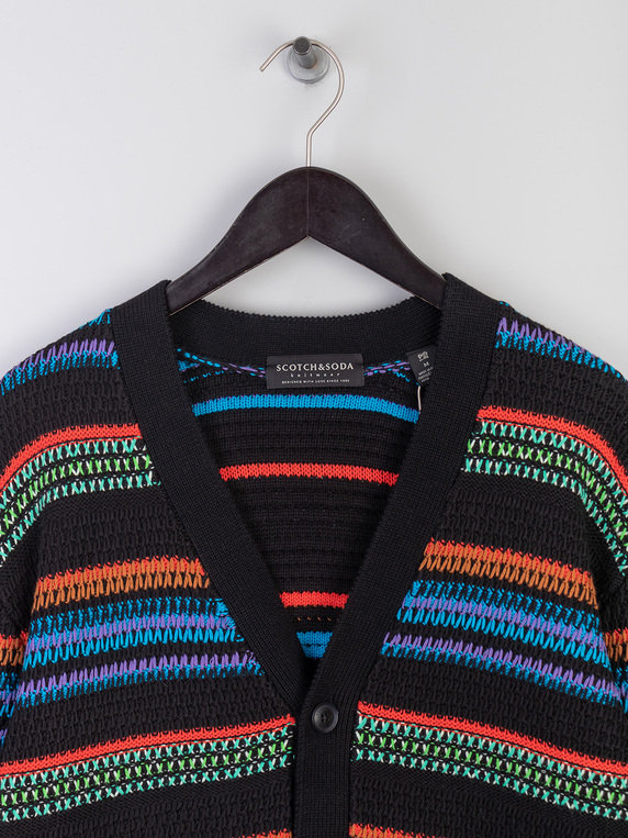 Scotch & Soda Colourful Cardi Knit Multicolour
