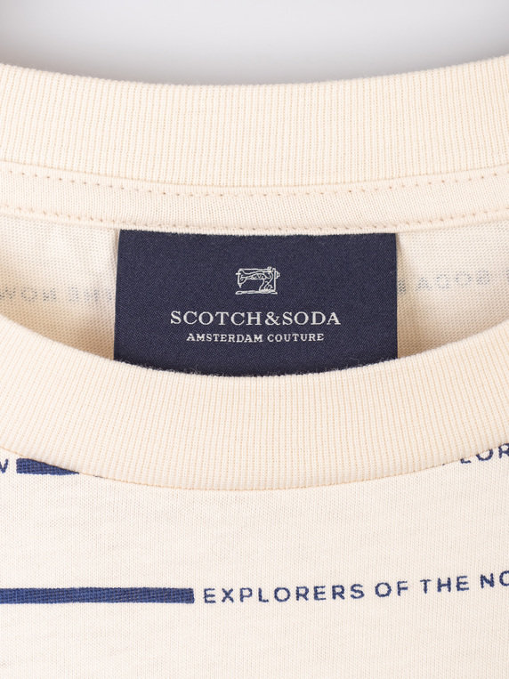 Scotch & Soda Graphic Print T-Shirt White