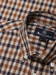 Aqauscutum York Club Check Short Sleeve Shirt Brown Thumbnail